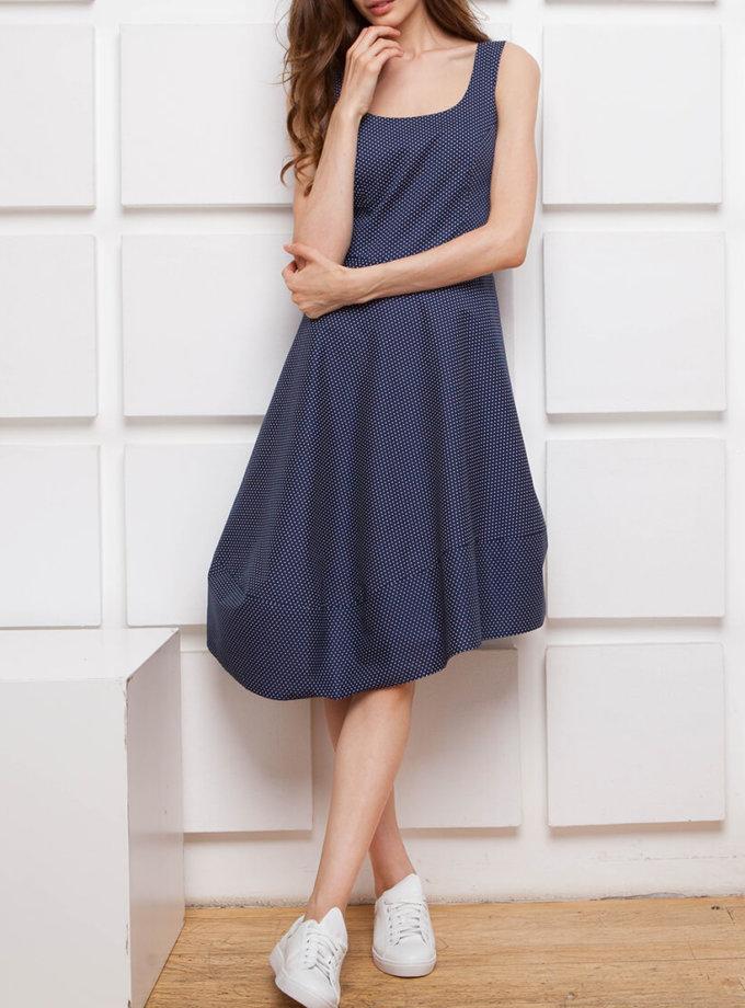 Платье с асимметричной юбкой SHKO_17003005_outlet, фото 1 - в интернет магазине KAPSULA