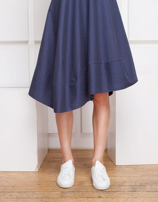 Платье с асимметричной юбкой SHKO_17003005_outlet, фото 4 - в интеренет магазине KAPSULA