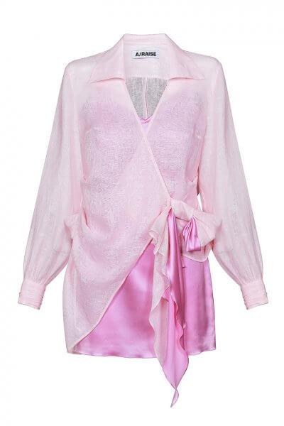 Комплект из шелкового платья и льняной рубашки ARS_SS20_21, фото 3 - в интеренет магазине KAPSULA