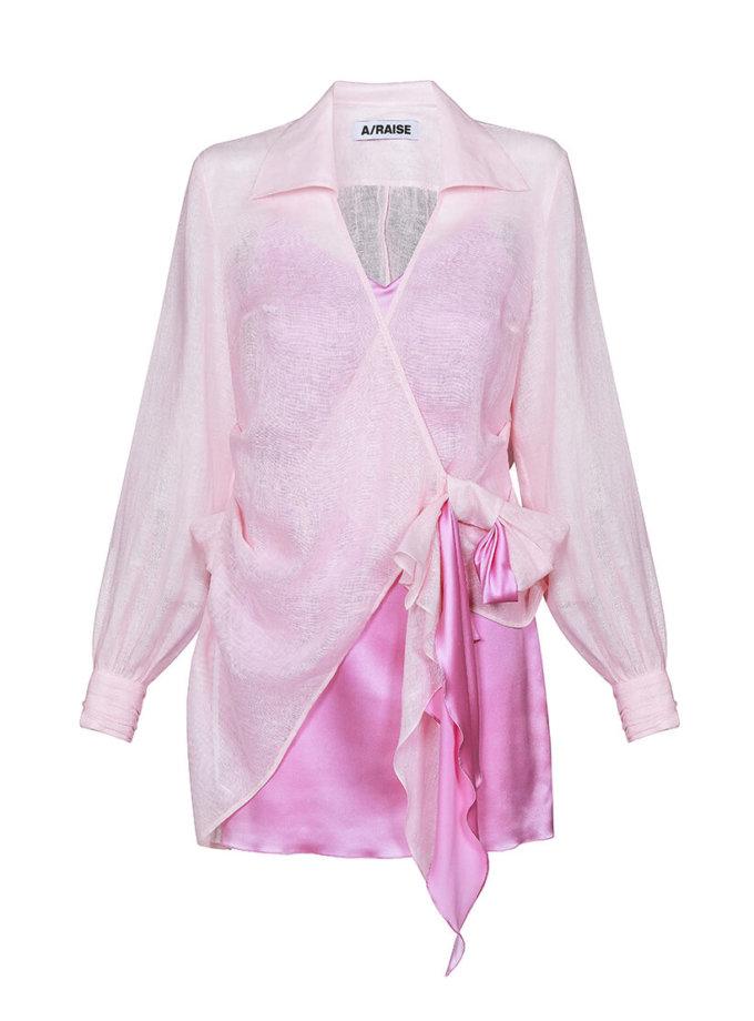 Комплект из шелкового платья и льняной рубашки ARS_SS20_21, фото 1 - в интернет магазине KAPSULA