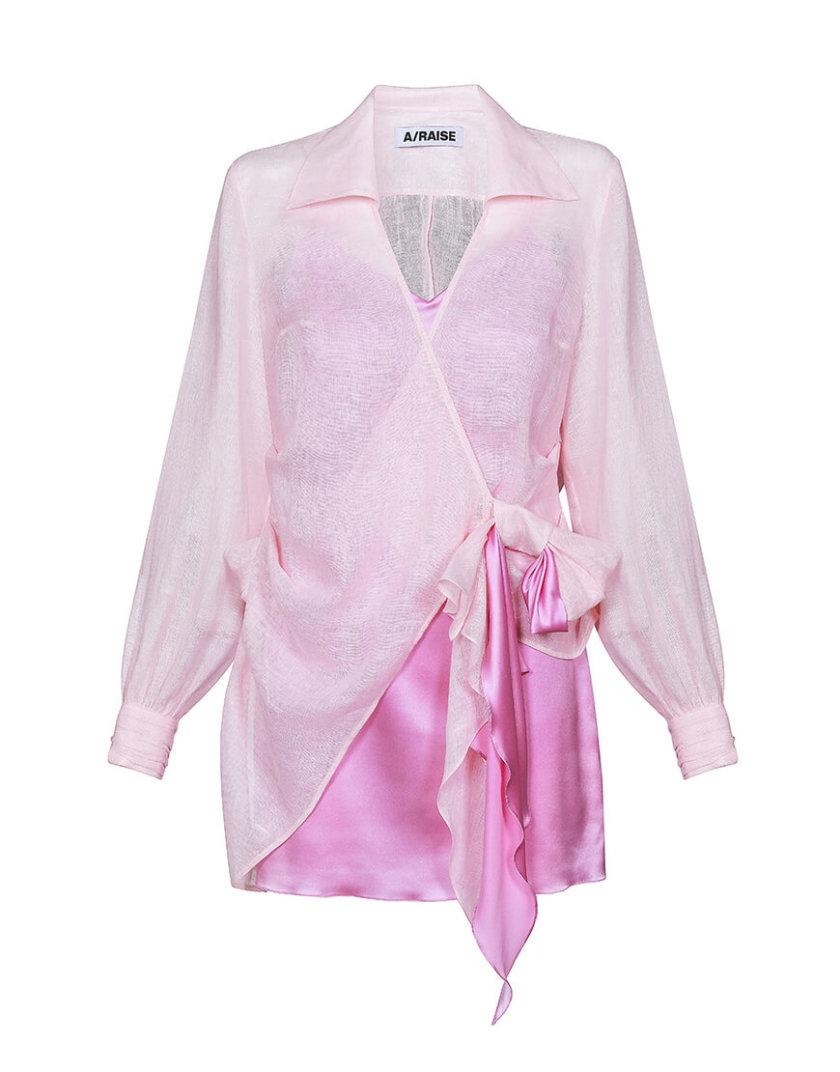 Комплект из шелкового платья и льняной рубашки ARS_SS20_21, фото 1 - в интеренет магазине KAPSULA