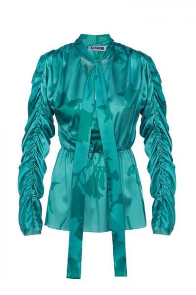 Шелковая блуза в принт ARS_SS20_25, фото 4 - в интеренет магазине KAPSULA
