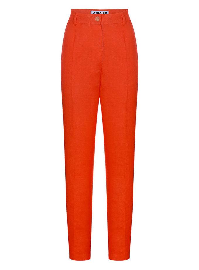 Прямые брюки из льна ARS_SS20_37, фото 1 - в интернет магазине KAPSULA