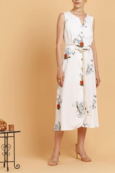 Платье с деревянными пуговицами INS_SS20_16, фото 1 - в интеренет магазине KAPSULA