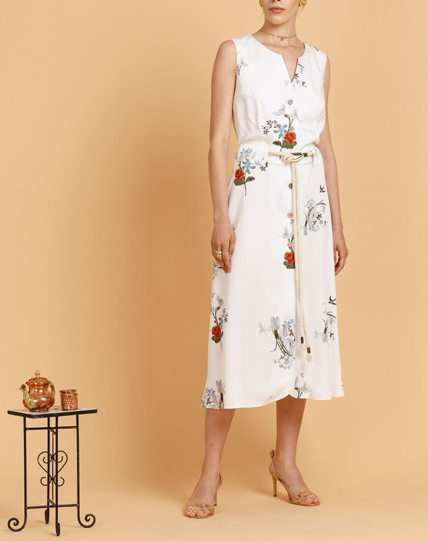 Платье с деревянными пуговицами INS_SS20_16, фото 1 - в интернет магазине KAPSULA