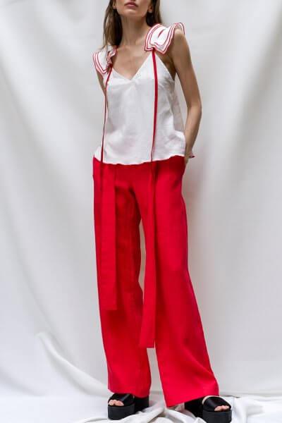 Льняные брюки с поясом TF_TAMAR_10, фото 1 - в интеренет магазине KAPSULA