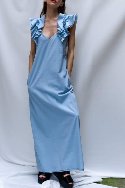 Хлопковое платье с воланами TF_TAMAR_17, фото 1 - в интеренет магазине KAPSULA