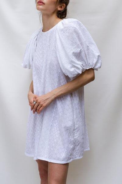 Хлопковое платье с вышивкой ришелье TF_TAMAR_2, фото 1 - в интеренет магазине KAPSULA