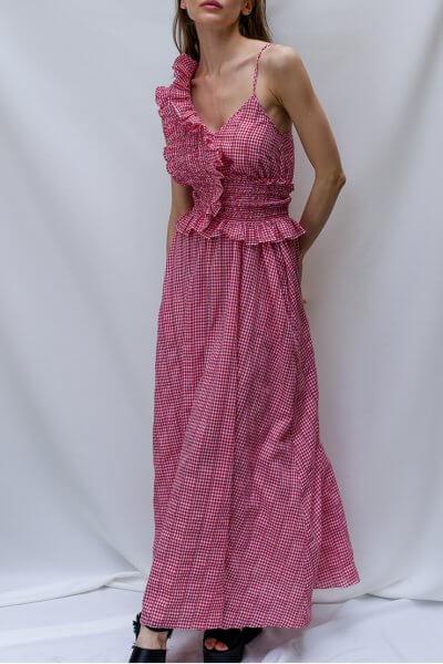 Платье с декоративным поясом TF_TAMAR_23, фото 3 - в интеренет магазине KAPSULA