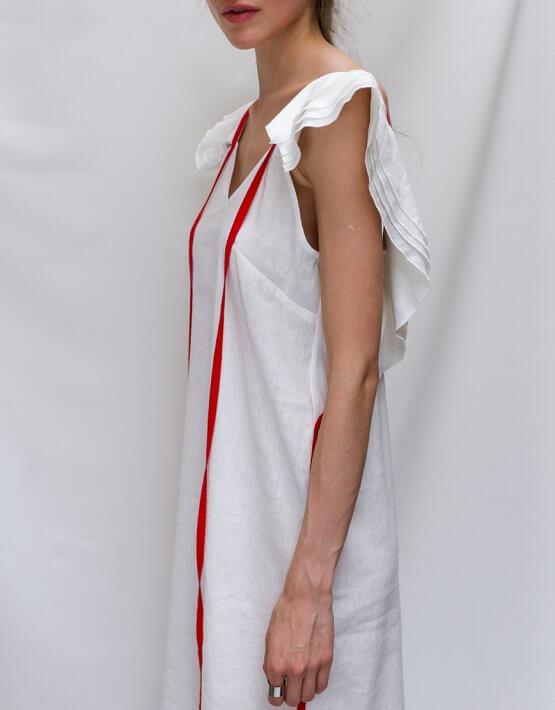 Льняной сарафан с воланами TF_TAMAR_26, фото 5 - в интеренет магазине KAPSULA