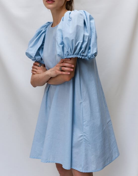 Платье с рукавами буфами TF_TAMAR_3, фото 4 - в интеренет магазине KAPSULA