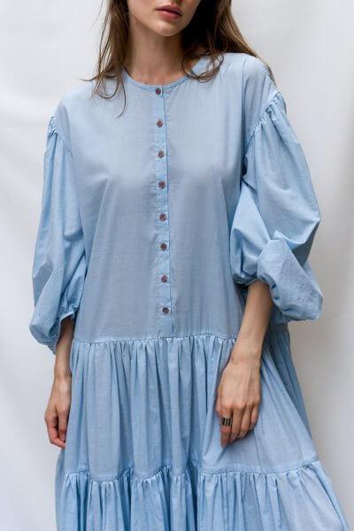 Платье макси с рукавами буфами TF_TAMAR_4, фото 1 - в интеренет магазине KAPSULA