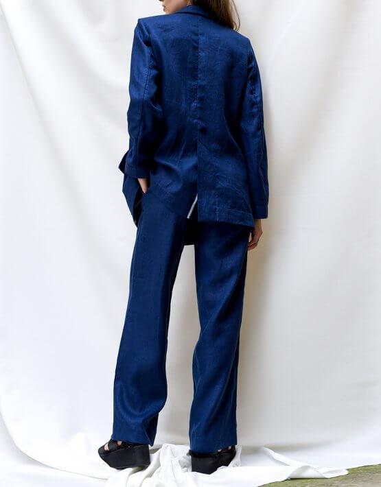 Льняные брюки на высокой посадке TF_TAMAR_7, фото 3 - в интеренет магазине KAPSULA