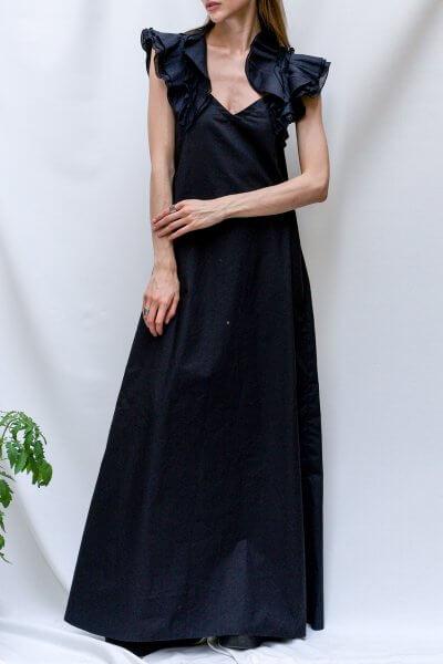 Хлопковое платье с воланами TF_Tam_32, фото 1 - в интеренет магазине KAPSULA
