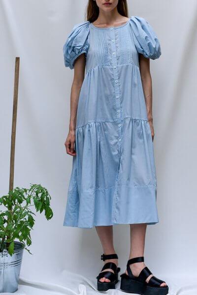 Хлопковое платье на пуговицах TF_Tam_39, фото 1 - в интеренет магазине KAPSULA