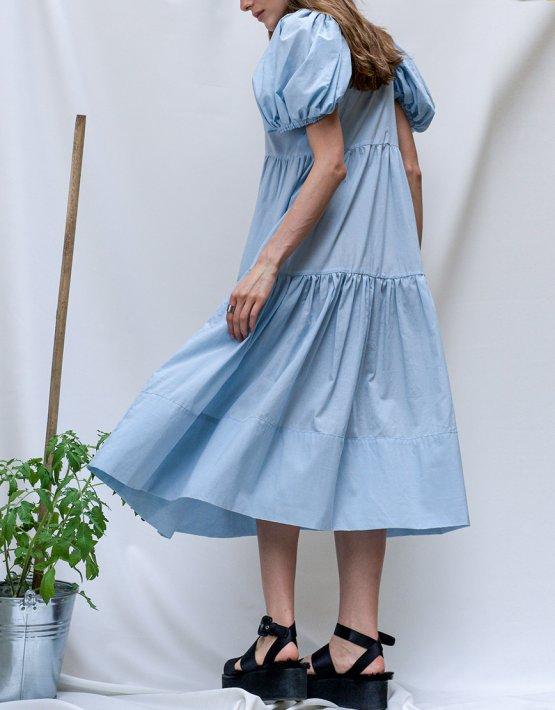 Хлопковое платье на пуговицах TF_Tam_39, фото 5 - в интеренет магазине KAPSULA
