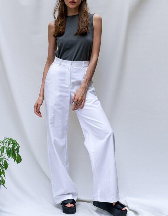 Прямые брюки из хлопка TF_Tam_40, фото 5 - в интеренет магазине KAPSULA