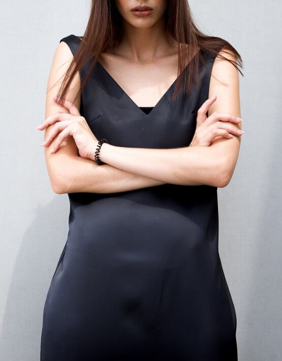 Черное платье свободного кроя TF_Tam_43, фото 4 - в интеренет магазине KAPSULA