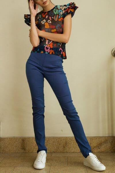 Облегающие брюки из хлопка TF_Tam_50, фото 4 - в интеренет магазине KAPSULA