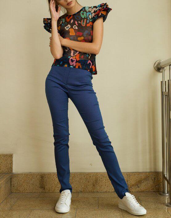Облегающие брюки из хлопка TF_Tam_50, фото 3 - в интеренет магазине KAPSULA
