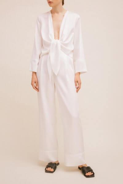 Широкие брюки с манжетами TTWH_Н2004, фото 1 - в интеренет магазине KAPSULA