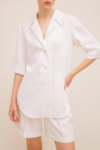 Удлиненная рубашка TTWH_Н2008, фото 1 - в интеренет магазине KAPSULA
