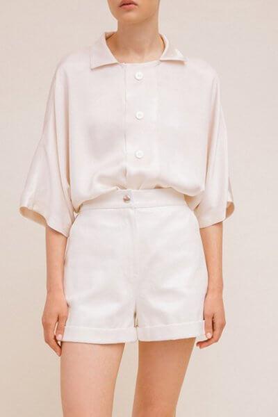 Рубашка с пуговицами из ракушки TTWH_Н2009, фото 1 - в интеренет магазине KAPSULA