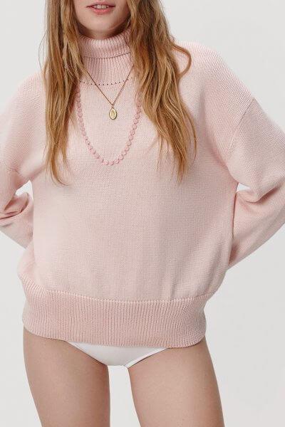 Объемный свитер под горло KNIT_20011, фото 1 - в интеренет магазине KAPSULA
