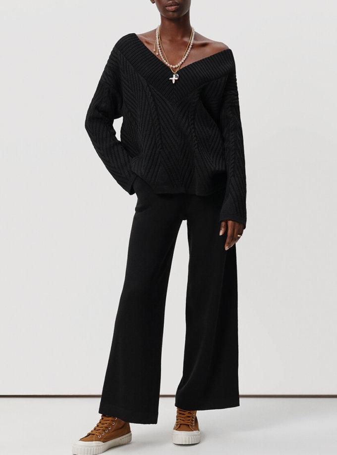 Вязаные брюки-клёш KNIT_20026, фото 1 - в интернет магазине KAPSULA
