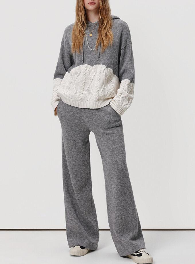 Комбинированный костюм из шерсти KNIT_20018, фото 1 - в интернет магазине KAPSULA