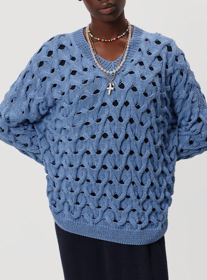 Фактурный свитер из хлопка KNIT_20014, фото 1 - в интеренет магазине KAPSULA