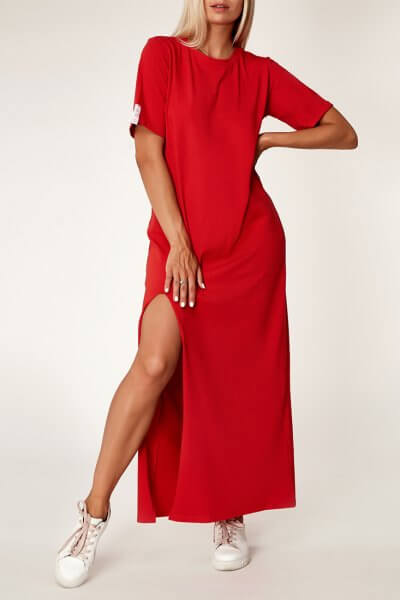 Хлопковое платье oversize CVR_REDTS2020, фото 1 - в интеренет магазине KAPSULA