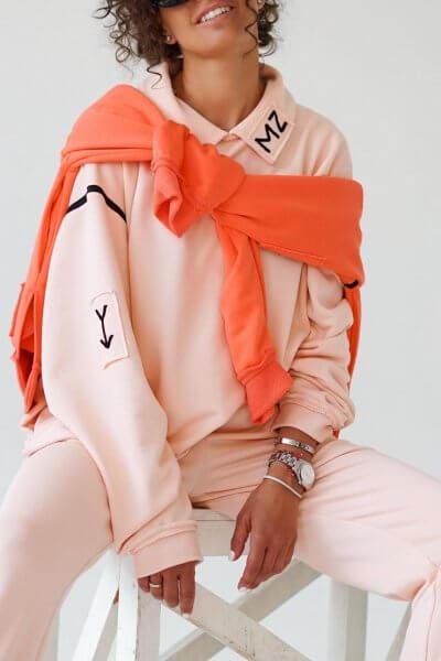 Хлопковый свитшот с воротником MZRB_MZ_SS20_1_pink, фото 1 - в интеренет магазине KAPSULA