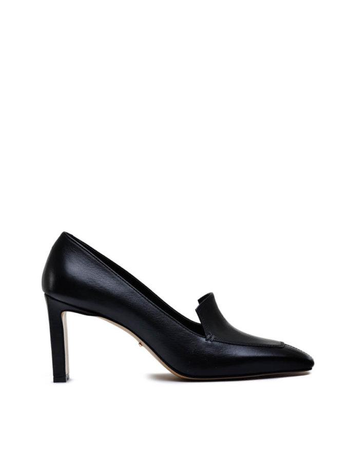 Кожаные туфли на устойчивом каблуке MDVV_66001, фото 1 - в интеренет магазине KAPSULA
