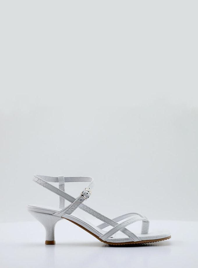 Кожаные босоножки Alexandra NZR_Alexandra-white, фото 1 - в интеренет магазине KAPSULA