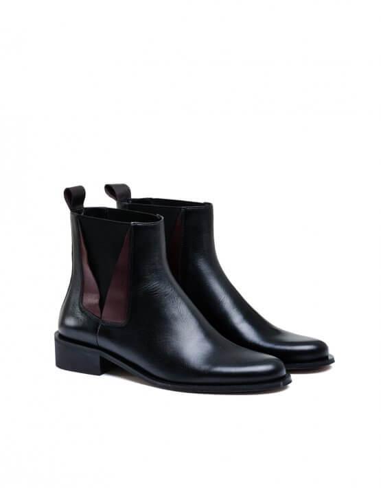 Кожаные ботинки со вставками MDVV_532717, фото 4 - в интеренет магазине KAPSULA