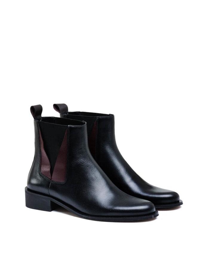 Кожаные ботинки со вставками MDVV_532717, фото 1 - в интеренет магазине KAPSULA