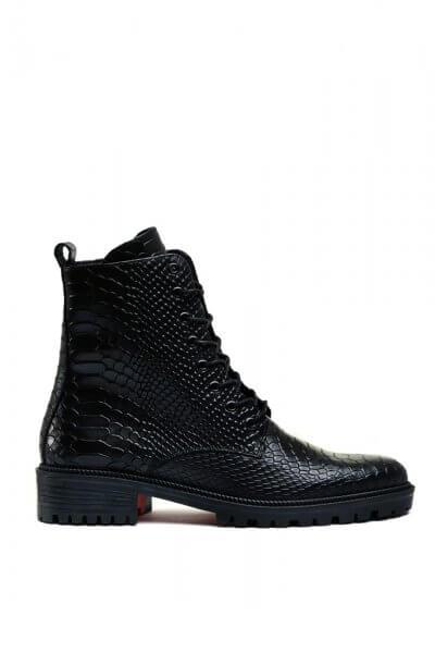 Кожаные ботинки с тиснением MDVV_533336, фото 1 - в интеренет магазине KAPSULA