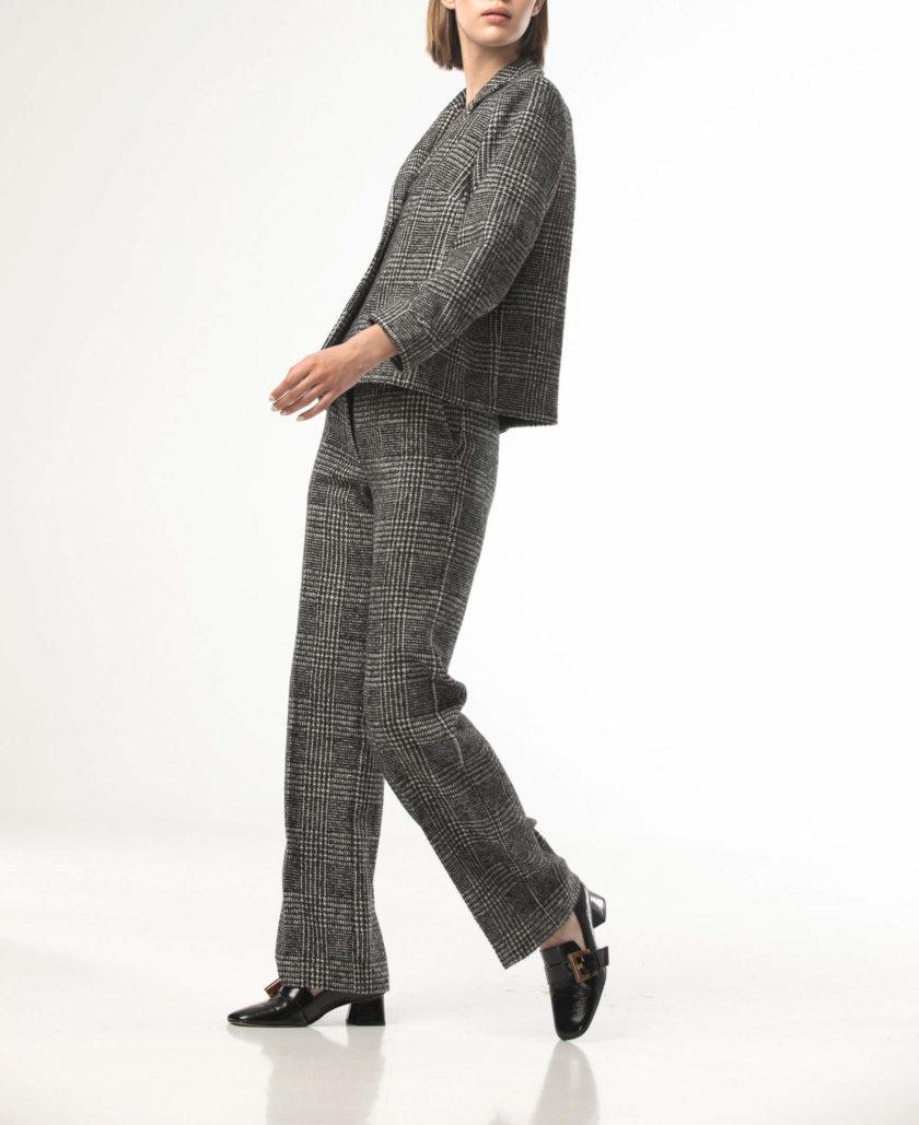 Прямые брюки в клетку со стрелками ALOT_030133, фото 1 - в интернет магазине KAPSULA