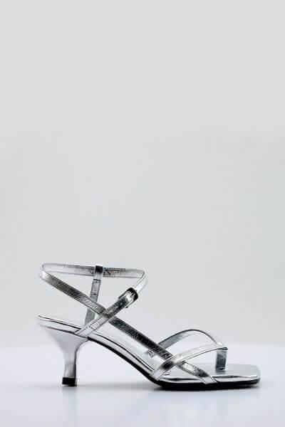 Кожаные босоножки Alexandra NZR_Alexandra-silver, фото 1 - в интеренет магазине KAPSULA