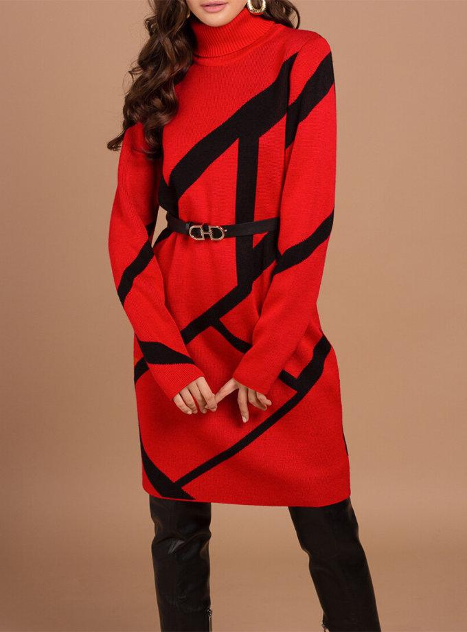 Вязаное платье из шерсти JDW_JD0309, фото 1 - в интеренет магазине KAPSULA