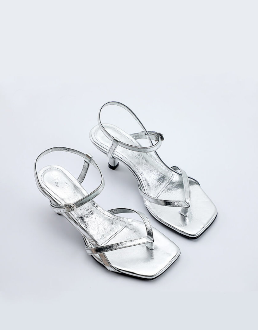 Кожаные босоножки Alexandra NZR_Alexandra-silver, фото 1 - в интернет магазине KAPSULA