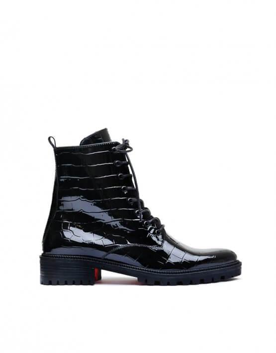 Лаковые ботинки с тиснением MDVV_533346, фото 4 - в интеренет магазине KAPSULA