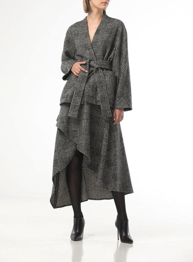Ассиметричная юбка из шерсти ALOT_200220, фото 1 - в интернет магазине KAPSULA