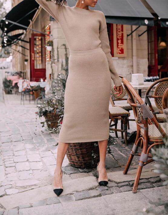 Двустороннее платье с вырезом JDW_JD3009, фото 6 - в интеренет магазине KAPSULA