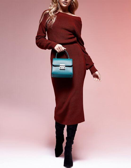 Двустороннее платье с вырезом JDW_JD0110, фото 3 - в интеренет магазине KAPSULA