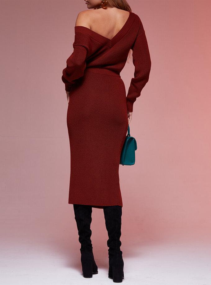 Двустороннее платье с вырезом JDW_JD0110, фото 1 - в интеренет магазине KAPSULA