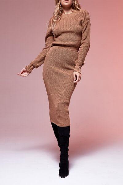 Двустороннее платье с вырезом JDW_JD0210, фото 1 - в интеренет магазине KAPSULA