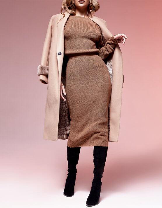 Двустороннее платье с вырезом JDW_JD0210, фото 2 - в интеренет магазине KAPSULA