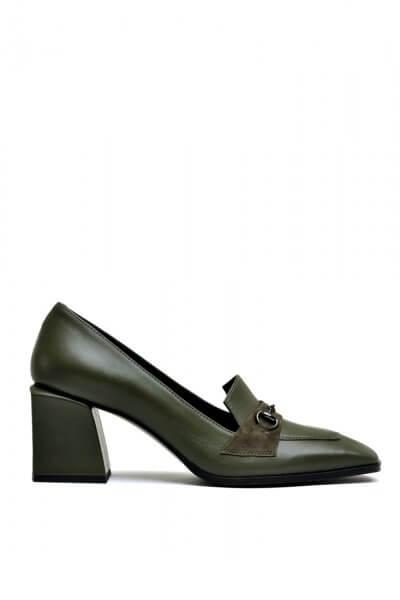 Кожаные туфли со вставками из замши MDVV_66112, фото 4 - в интеренет магазине KAPSULA